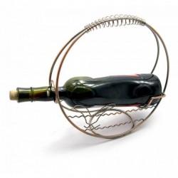 Подставка для бутылки Корзина металл d-27 см 25363