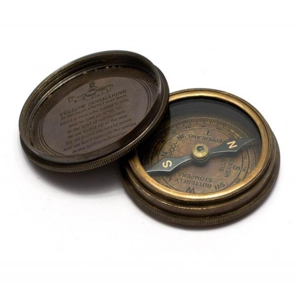 """Компас """"Beatles"""" бронза  d-6,h-2 см Brass Beatles Compass 2inches diameter 26575"""