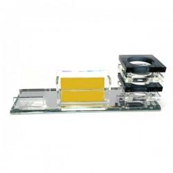 Подставка для ручек и визиток хрусталь 25,5х8,8х9 см