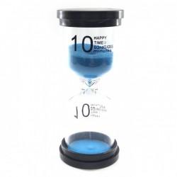 Песочные часы 10 минут синий песок 32239с