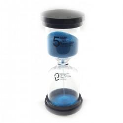 Песочные часы 5 минут синий песок 32240D
