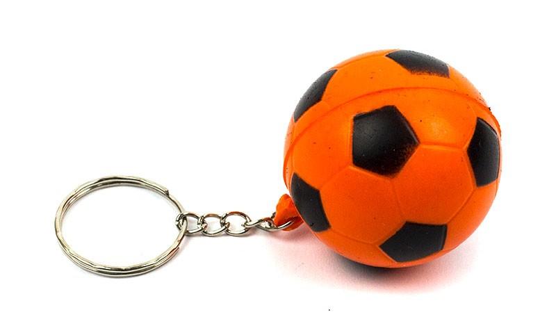 Брелок Футбольный мяч оранжевый