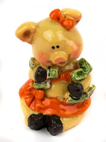 Статуэтка богатая Свинка