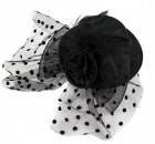 Шляпа гламур маленькая с розой черная