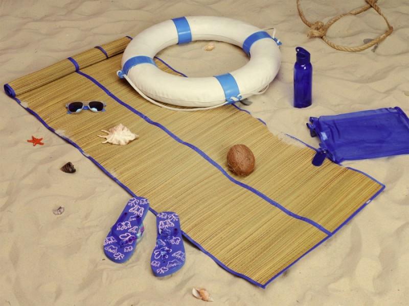 Пляжный набор Тропики с брелоком синий