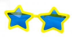 Очки гигант Звезда желтые