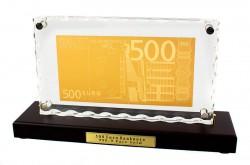 Золотая купюра 500 евро