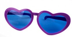 Очки гигант Сердца фиолетовые