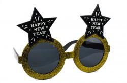 Очки Happy new year звезды золотые