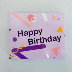 Шоколадный набор Big Happy Birthday! фиолетовый