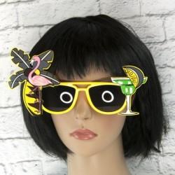 Очки - party Коктейль желтые