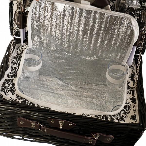 Корзина для пикника на 4 персоны Black basket