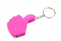Брелок Лайк-рулетка розовая