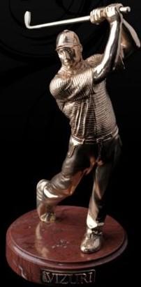 Бронзовая фигурка Игрок в гольф (Gold)