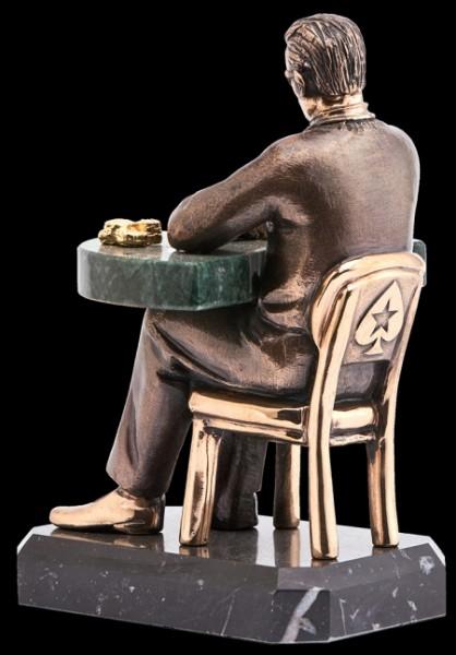 Скульптура из бронзы Звезда покера