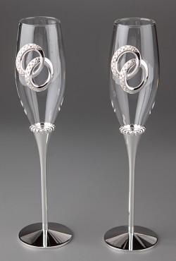 Свадебные бокалы Обручальные кольца