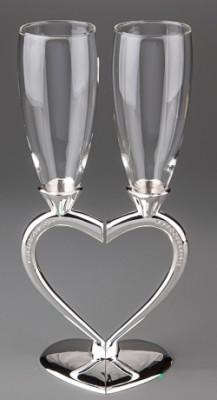 Свадебные бокалы Половинки сердца