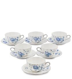 Чайный набор на 6 перс. Голубая бабочка Pavone
