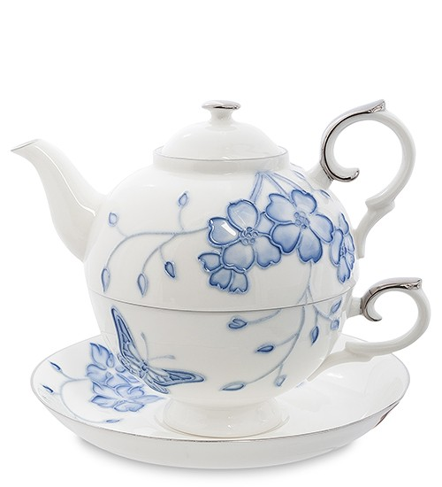Чайный набор Голубая бабочка Pavone
