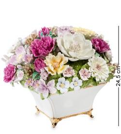Композиция из костяного фарфора Ваза с цветами Pavone