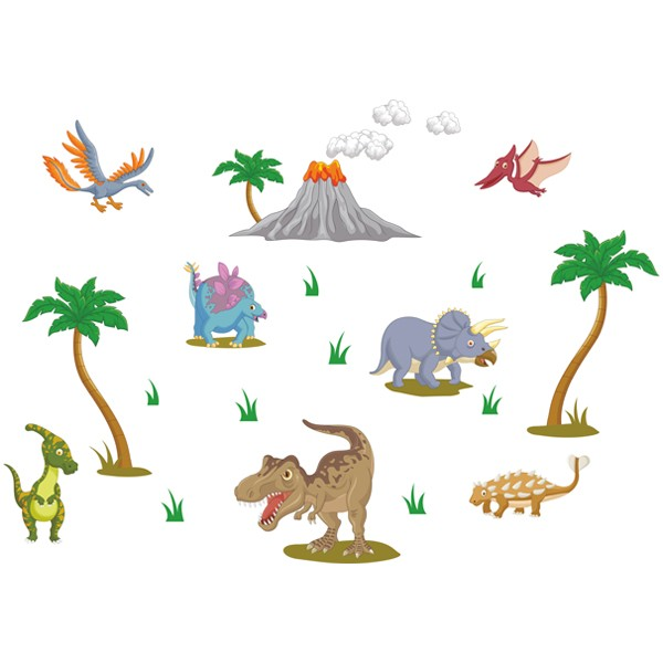 Наклейка Детская Dinosaurs