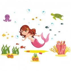 Наклейка Детская Mermaid