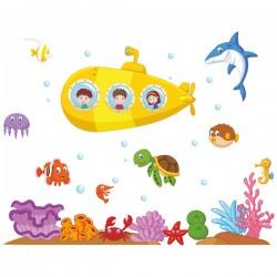 Наклейка Детская Submarine