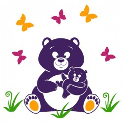 Наклейка Детская Bear
