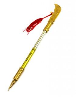 Ручка шариковая-прикол Меч золотой