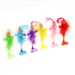 Ручка шариковая-прикол, «Пух-куколка», на подставке, МИКС