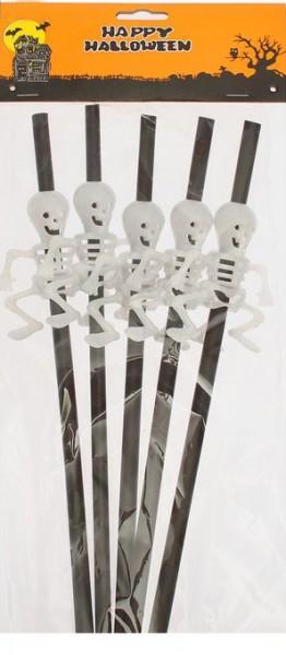 Трубочки для коктейля Скелет