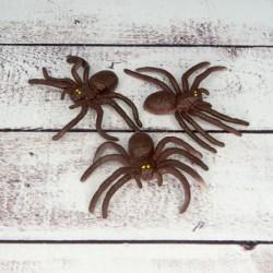 Резиновый Паук 6х3см коричневый
