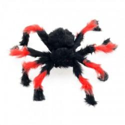 Паук из меха 50см черный с красным