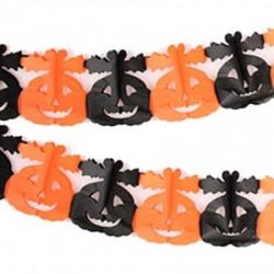 Гирлянда 3D Хэллоуин Тыква с листиками