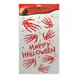 Наклейки кровавые Happy Halloween