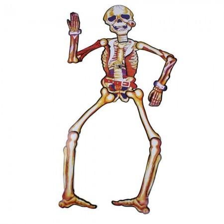 Декор настенный (85см) Скелет желтый