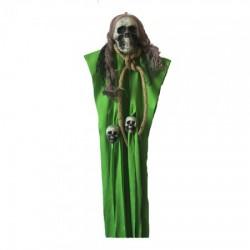 Декор для хэллоуина Висящая Смерть (80см) зеленая