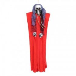 Декор для хэллоуина Висящая Смерть (80см) красная