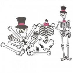 Декор настенный (85см) Скелет в шляпе