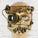 Маска винтажная стимпанк Баута (золото)