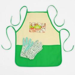 Набор Цветущего урожая, садовый фартук, перчатки