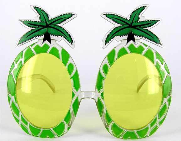 """Очки  party """"пальма - ананас"""""""