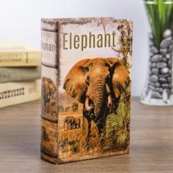 """Сейф-книга дерево """"Слон в Африке"""""""