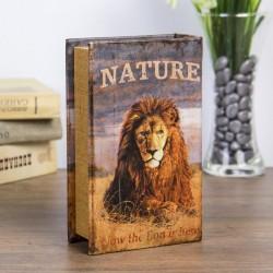 "Сейф-книга дерево ""Природа льва"""