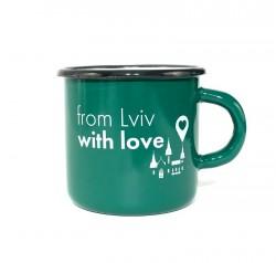 Чашка From Lviv with love темно зеленый