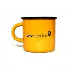 Чашка Lviv check in оранжевый