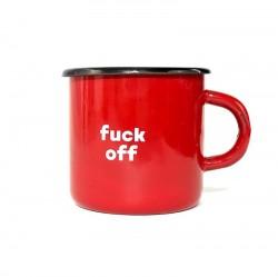 Чашка Fuck off красный