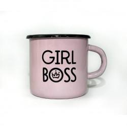 Чашка Girl boss розовый