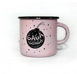 Чашка Баба бомба розовый
