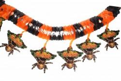 Декоративная вывеска на хэллоуин Пауки